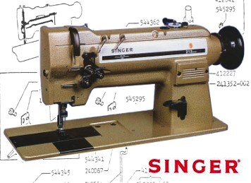SINGER 212W141 212G141 212U141 & 212U Replacement Parts