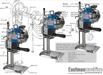 eastman cutting machine parts