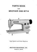 BROTHER DB2-B755Mk2 and DB2-B714 Parts Book