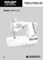 SIRUBA F007 Parts Book