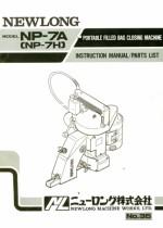 NEWLONG NP-7A Parts Book