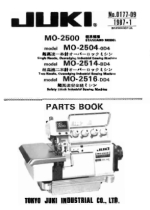 click HERE For The Juki MO2500 Series Parts List