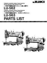 Juki sewing machines lu-563 manual